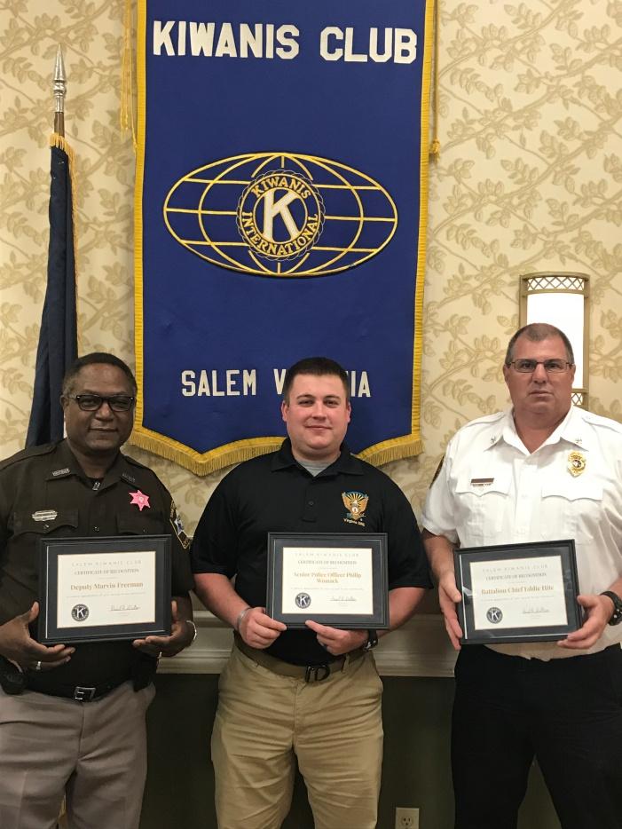 October First Responders Honorees: (L-R) Deputy Marvin Freeman, Senior Police Office Philip Womack, Battalion Chief Eddie Hite
