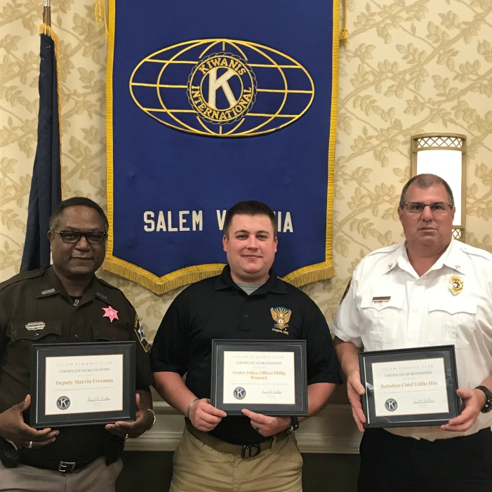 October First Responders Honorees: (L-R) Deputy Marvin Freeman, Senior Police Office Philip Womack, Battalion Chief Eddie Hite