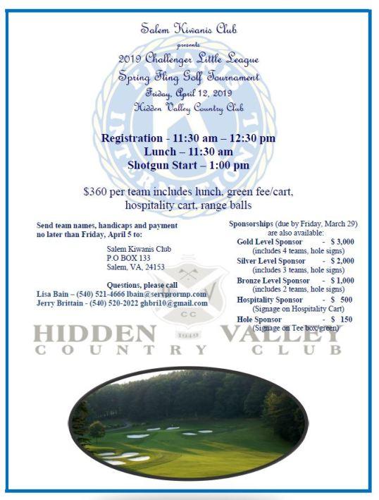 spring golf tournament