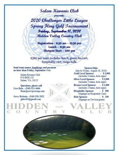 2020 Salem Kiwanis Golf Tournament